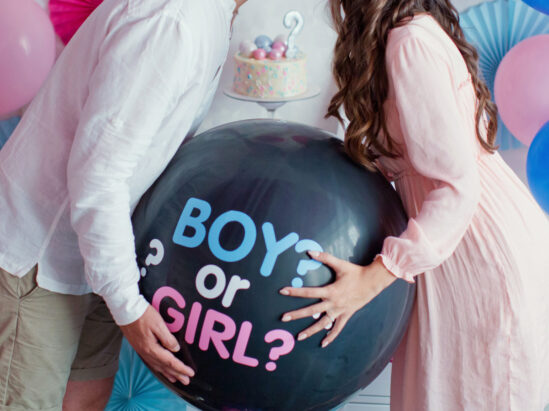 balloons for gender reveal party Austin